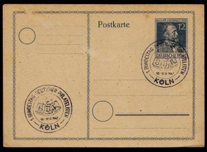 Köln Sonderstempel 1.Bundestag Philatelie 1947 (8794