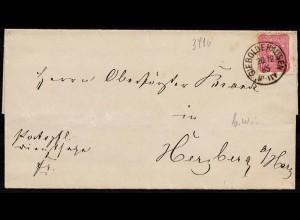 Gieboldehausen Brief nach Herzberg 1885 (8830