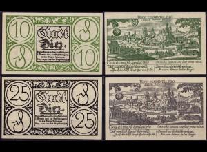 Notgeld Diez Dietz 10 + 25 Pfg. 1920 (8978