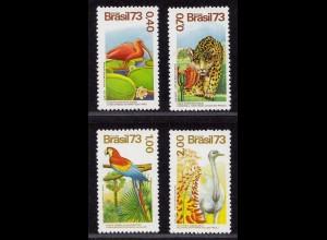 Brasilien Brazil Vögel Birds Wildlife Animals 1973 1415-18 ** MNH (8997