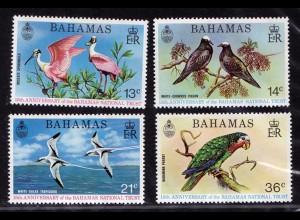 Bahamas Vögel Birds Animals Wildlife Satz 1974 ** MNH (9020