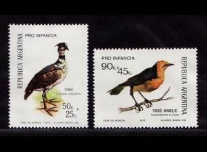 Argentinien Argentina Mi. 1142-1143 Vögel Birds Wildlife 1973 ** MNH (9021