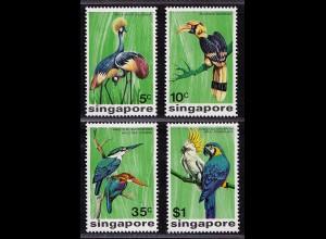 Singapur SINGAPORE Mi.239-42 Vögel Birds Animals 1975 ** (9042