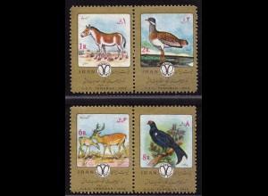 Persia Birds Animals Wildlife 1974 ** MNH (9055
