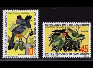 Kamerun Cameroon Vögel Birds Animals 1972 Satz ** MNH (9072
