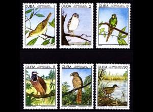 Karibik Vögel Birds Tiere Animals Wildlife Set 2057-62 ** MNH (9122