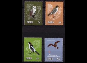 Malta Mi.624-27 Vögel Birds Animals Wildlife 1981 ** MNH (9143