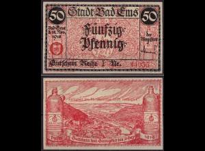 Pfalz - Bad Ems 50 Pfennig 1918 Gutschein/Notgeld Kränchen (cb044