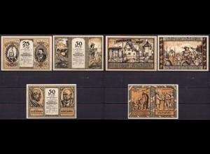 Rheinland - Dellbrück 3 Stück Gutschein/Notgeld 1921 Volksbank (cb049