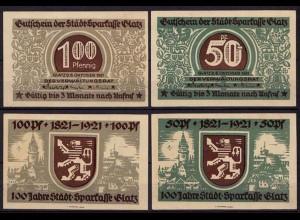 Schlesien - Glatz Kłodzko 50 + 100 Pfennig Notgeld Polen (cb057