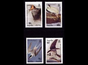 Anguilla 634-637 Vögel Birds Tiere Animals Set 1983 ** MNH (9198
