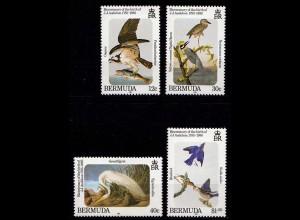 Bermuda 454-457 Vögel Birds Wildlife Tiere Animals 1985 (9243