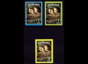 Costa Rica 1029-1031 Vögel Birds Tiere Wildlife 1979 ** (9254