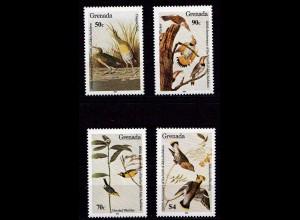Grenada Vögel Birds Tiere Animals Set ** 1985 Mi. 1343-1346 (9313