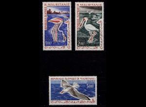 Mauretanien Mauretania Vögel Birds Tiere ** 1961 Mi. 178-180 (9324