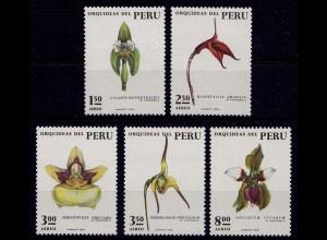 Peru Michel Nr. 931-35 Orchideen Orchids ** postfrisch (9358