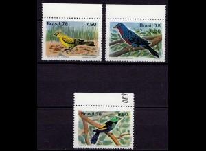Brasilien Brazil Vögel Birds ** 1978 Mi. 1651-1653 (9433