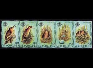 Seychellen Vögel Birds Wildlife 1982 Satz ** Mi. 498-502 (9465