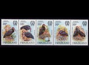 Swaziland Vögel Birds Wildlife 1984 5er Str. ** Mi. 449-453 (9485