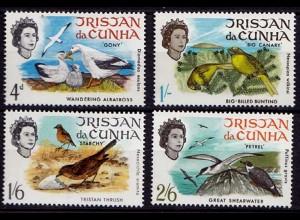 Tristan da Cunha Vögel Birds Wildlife 1968 Mi. 116-119 postfrisch (9568