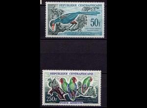 Central Africa Vögel Birds Wildlife 1962 ** Mi. 31-32 (9598