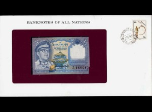 Banknotes of All Nations - Nepal 1 Rupee 1979 Pick 22 UNC Notenbrief