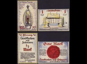 Schleswig Holstein - Landkirchen/Fehmarn 2 Stück Notgeld/Gutschein (cb092