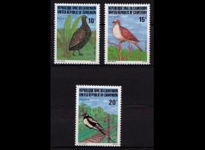 Kamerun Cameroon Vögel Birds Wildlife 1982 ** Mi. 985-987 (9652
