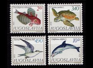 Jugoslawien Vögel Birds Animals Wildlife 1980 ** (9655