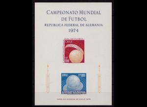 Chile Fussball WM 1974 Mi 804/05 Proof Sonderdruck (9695