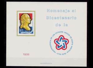 Chile Unabhängigkeit 1976 Mi 857 Proof Sonderdruck (9696