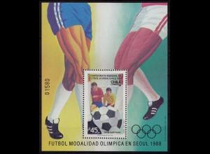 Chile 1988 Fussball WM der Junioren Seoul BL.5 ** (9704