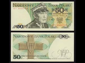Polen - Poland - 50 Zlotych Banknote 1988 UNC Pick 142c (16222