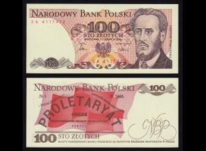 Polen - Poland - 100 Zlotych Banknote 1986 UNC Pick 143e (16223