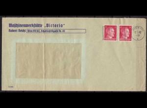 Wien Maschinenstempel von Victoria Werkstatt 1942 (9879