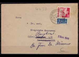 Burgsteinfurt nach Borghorst Inhalt 1949 Nachsendung EF (9905