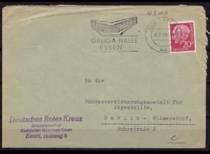 Essen Gruga Maschinenstempel nach Wilmersdorf 1959(9913