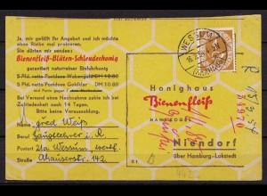 Wessum Ahaus n. Niendorf 4 Pfg.Posthorn EF 1954 (9916