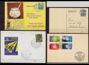 Dülmen 4 Karten/Umschläge D.Reich bis BRD versch. Stempel + SST (10210