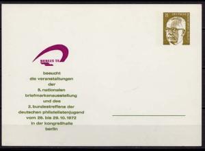 Privat-Ganzsache Berlin 1972 8 Pfennig (10243