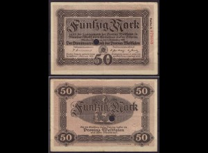 Westfalen - PROVINZ WESTFALEN Münster 50 Mark 1918 Notgeld (cb200