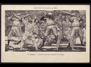 AK Schlacht von Näfels Kunstsammlung Basel aus Masmünster nach Strassburg (10273