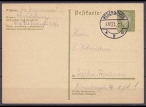 Regensburg nach Berlin-Friedenau Ganzsache 1932 (10300