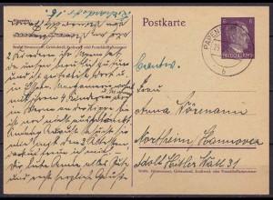 Papenburg - Northeim/Hannover WW2 auf Ganzsache 25.7.1944 (10306