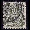 Deutsches Reich 50 Pfennig 44 c geprüft Zenker BPP gestempelt (10374