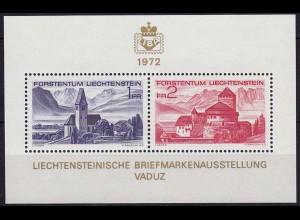 LIECHTENSTEIN 1972 Block 9 LIBA´72 postfrisch (10982