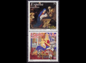 Spanien 2001 Mi. 3671/72 Weihnachten Gemälde in Euro Nominale postfrisch (10989