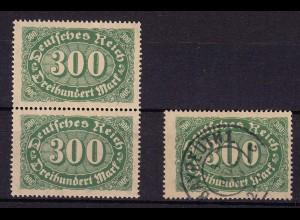 Deutsches Reich DR Infla Mi. 221 I postfr. + gest. h von Reich m.Häkchen (11008