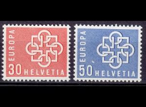 Schweiz Swiss Switzerland Mi. 679-680 EUROPA CEPT 1959 ** (11202