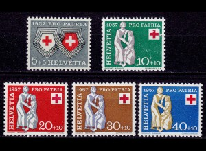 Schweiz Swiss Switzerland Mi. 641-645 Pro Patria 1957 ** (11213